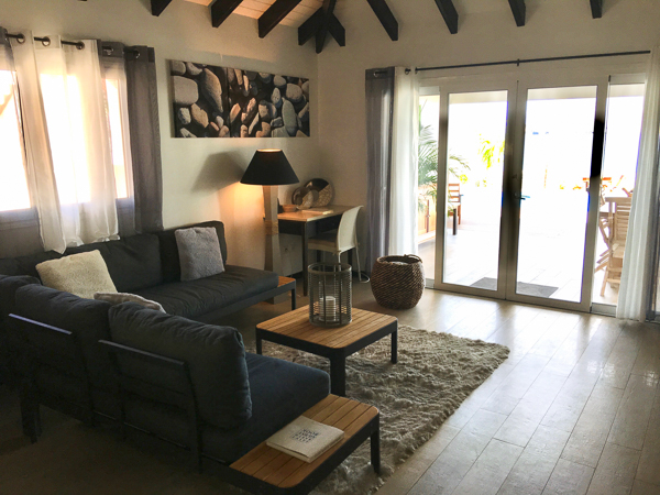 Living Room at Villa WV VMG (Ecoute Les Vagues) at St. Barthelemy, Flamands Beach, Family-Friendly Villa, Pool, 3 Bedrooms, 2 Bathrooms, WiFi, WIMCO Villas