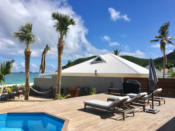 Terrace at Villa WV VMG (Ecoute Les Vagues) at St. Barthelemy, Flamands Beach, Family-Friendly Villa, Pool, 3 Bedrooms, 2 Bathrooms, WiFi, WIMCO Villas