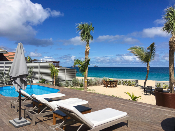 The view from Villa WV VMG (Ecoute Les Vagues) at St. Barthelemy, Flamands Beach, Family-Friendly Villa, Pool, 3 Bedrooms, 2 Bathrooms, WiFi, WIMCO Villas