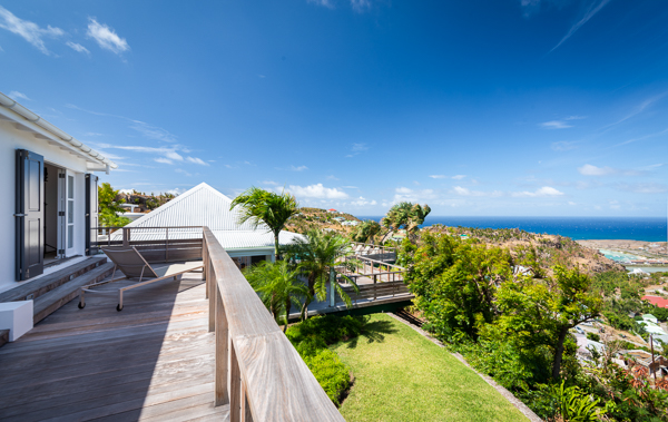 The view from Villa WV VNA (Vina - Aurore) at St. Barthelemy, Vitet, Family-Friendly Villa, Pool, 5 Bedrooms, 5 Bathrooms, WiFi, WIMCO Villas