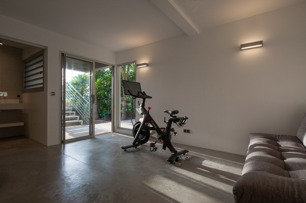 Gym at WIMCO Villa WV VPM (POINTE MILOU) at Pointe Milou, St. Barthelemy