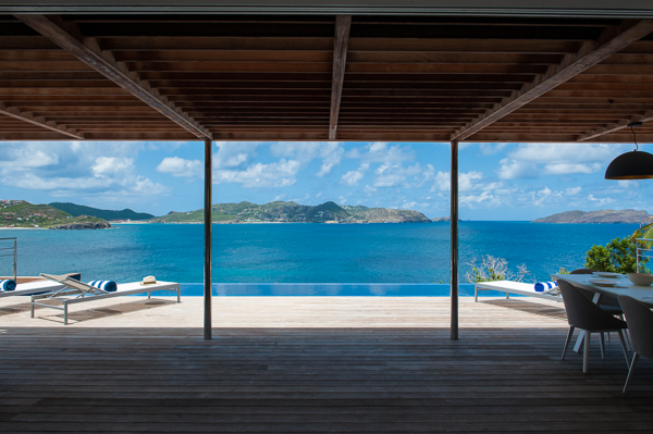 Terrace at WIMCO Villa WV VPM (POINTE MILOU) at Pointe Milou, St. Barthelemy