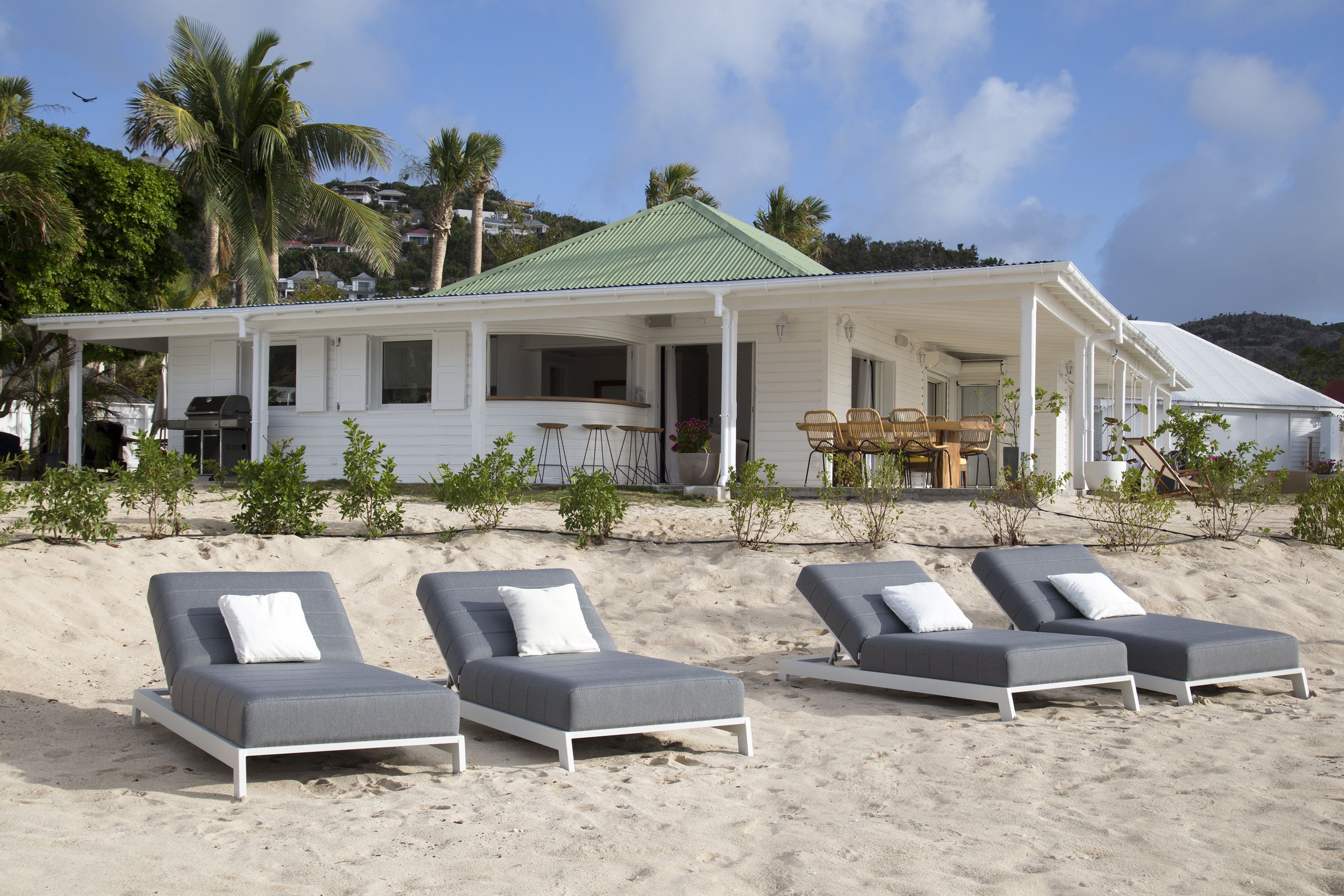 Beach at WIMCO Villa WV VSC (Sand Castle) at Lorient Beach, St. Barthelemy