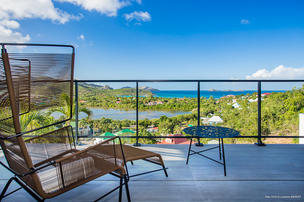 The view from Villa WV YOU2 (You) at St. Barthelemy, St. Jean, Family-Friendly Villa, Pool, 3 Bedrooms, 3 Bathrooms, WiFi, WIMCO Villas
