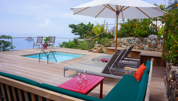 Deck at WIMCO Villa WV BAL (La Baleine) at Colombier, St. Barthelemy