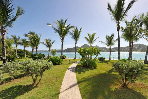 The view from Villa WV RLD2 (Les Sables d'Or) at St. Barthelemy, St. Jean, 2 Bedrooms, 2 Bathrooms, WiFi, WIMCO Villas