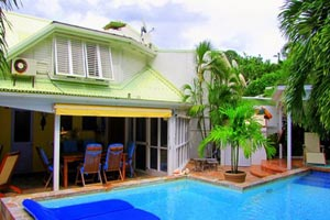 Exterior of Villa WV HON (Flamboyant) at Marigot, St. Barthelemy, Family-Friendly, Pool, 1 Bedroom, 2 Bathroom, WiFi, WIMCO Villas, Available for the Holidays