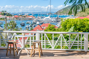 The view from Villa WV FCC (Apartment Colony Club - Flora) at Gustavia, St. Barthelemy, Pool, 1 Bedroom, 1 Bathroom, WiFi, WIMCO Villas, Available for the Holidays