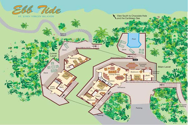 Villa CT EBB (Ebb Tide) at St. John, Chocolate Hole, Family-Friendly Villa, Pool, 4 Bedrooms, 4 Bathrooms, WiFi, WIMCO Villas