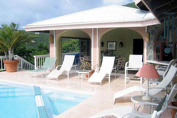 Terrace at Villa CT MOR (Morningside) at St. John, Rendezvous Bay, Family-Friendly Villa, Pool, 4 Bedrooms, 4 Bathrooms, WiFi, WIMCO Villas