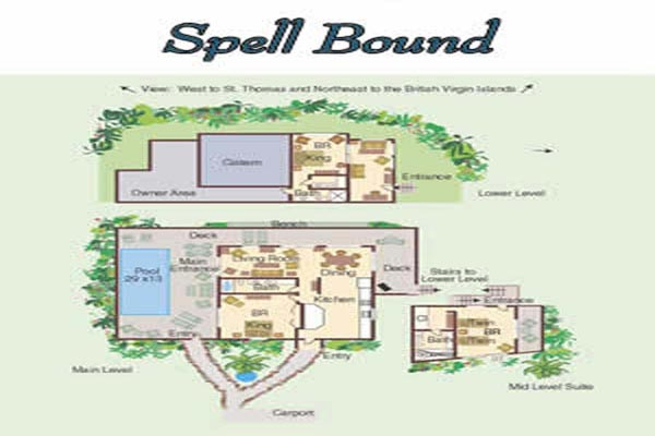 Villa CT SPE (Spellbound) at St. John, Catherineberg, Pool, 3 Bedrooms, 4 Bathrooms, WiFi, WIMCO Villas
