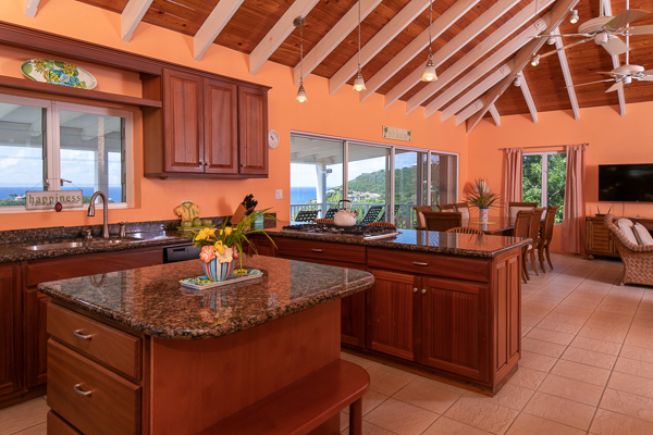 Kitchen at WIMCO Villa CT CRY (Crystal Seaview) at Chocolate Hole, St. John