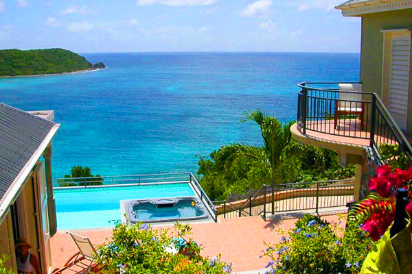 The view from Villa CT LAT (Latitude) at St. John, Rendezvous Bay, Pool, 3 Bedrooms, 4 Bathrooms, WiFi, WIMCO Villas