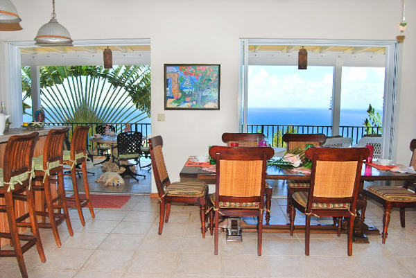 Dining Room at Villa CT MOU (Ti Moune) at St. John, Rendezvous Bay, Family-Friendly Villa, Pool, 4 Bedrooms, 5 Bathrooms, WiFi, WIMCO Villas