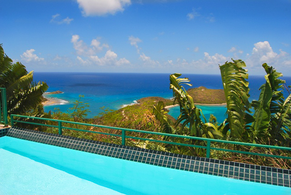 The view from Villa CT MOU (Ti Moune) at St. John, Rendezvous Bay, Family-Friendly Villa, Pool, 4 Bedrooms, 5 Bathrooms, WiFi, WIMCO Villas