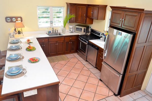 Kitchen at Villa CT SUN (Sunset Beach) at St. John, Chocolate Hole, Family-Friendly Villa, Pool, 4 Bedrooms, 4 Bathrooms, WiFi, WIMCO Villas