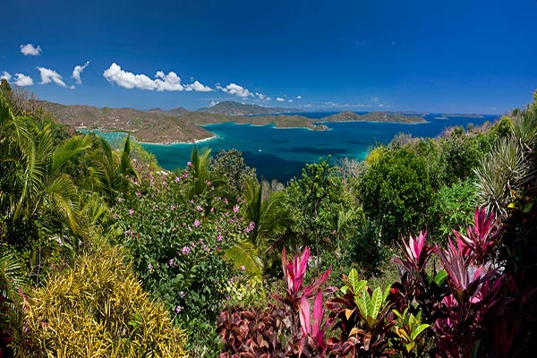 The view from Villa MAS MOO (Moon Cottage) at St. John, East/Coral Bay, Family-Friendly Villa, Pool, 1 Bedrooms, 2 Bathrooms, WiFi, WIMCO Villas