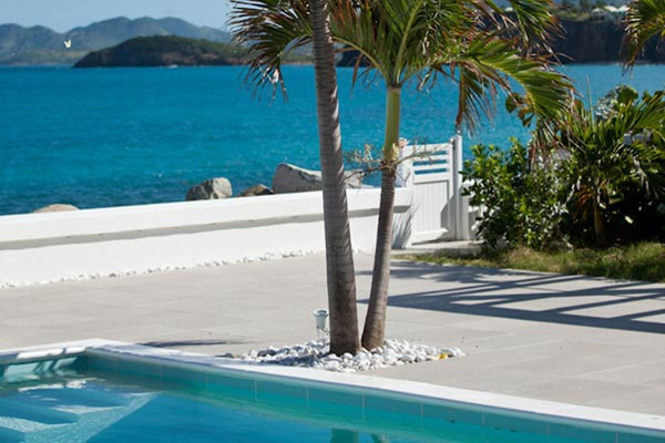 Terrace at Villa PIE LOR (La Perla Bianca) at St. Martin, Beach Side/Baie Rouge, Family-Friendly Villa, Pool, 1 Bedrooms, 1 Bathrooms, WiFi, WIMCO Villas