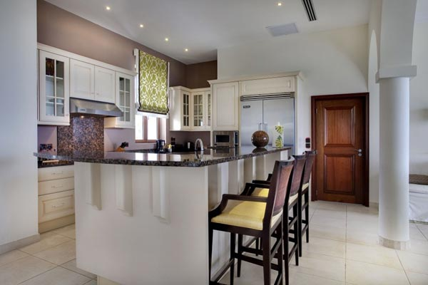 Kitchen at Villa SMA 3BD (Bluff 3 Bedroom Villa at La Samanna) at St. Martin, Beach Side/Baie Longue, Family-Friendly Villa, Pool, 3 Bedrooms, 3 Bathrooms, WiFi, WIMCO Villas