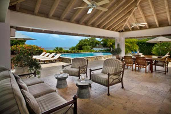 Veranda at Villa VG FAN (Sea Fans) at Virgin Gorda, Beachside Mahoe Bay, Family-Friendly Villa, Pool, 4 Bedrooms, 4 Bathrooms, WiFi, WIMCO Villas