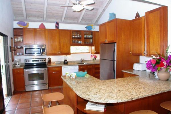 Kitchen at Villa VG SDR (Sea Dream) at Virgin Gorda, Hillside Leverick Bay, Family-Friendly Villa, Pool, 3 Bedrooms, 2 Bathrooms, WiFi, WIMCO Villas
