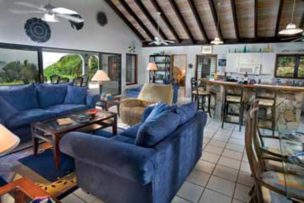 Living Room at Villa VG VAL (Valmarc) at Virgin Gorda, Walk/Mahoe Bay, Family-Friendly Villa, Pool, 4 Bedrooms, 4 Bathrooms, WiFi, WIMCO Villas