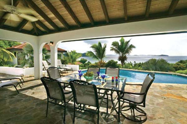 Terrace at Villa VG VAL (Valmarc) at Virgin Gorda, Walk/Mahoe Bay, Family-Friendly Villa, Pool, 4 Bedrooms, 4 Bathrooms, WiFi, WIMCO Villas