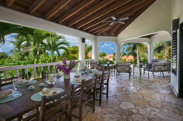 Dining Room at Villa VG BEL (Bellamare) at Virgin Gorda, Walk/Mahoe Bay, Family-Friendly Villa, Pool, 4 Bedrooms, 4 Bathrooms, WiFi, WIMCO Villas