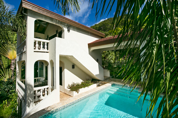 Villa Pool at Villa VG BEL (Bellamare) at Virgin Gorda, Walk/Mahoe Bay, Family-Friendly Villa, Pool, 4 Bedrooms, 4 Bathrooms, WiFi, WIMCO Villas