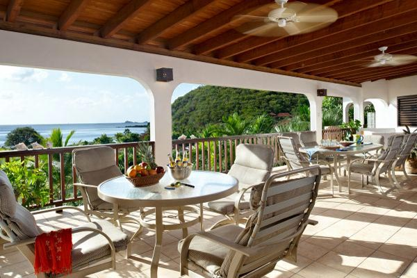 Terrace at Villa VG LOB (Loblolly) at Virgin Gorda, Walk/Mahoe Bay, Family-Friendly Villa, Pool, 6 Bedrooms, 6 Bathrooms, WiFi, WIMCO Villas