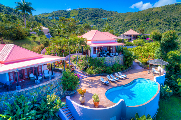 Exterior of Villa TOR CAN (Canefield House) at NW/Green Bank, Tortola, Family-Friendly, Pool, 3 Bedroom, 3 Bathroom, WiFi, WIMCO Villas