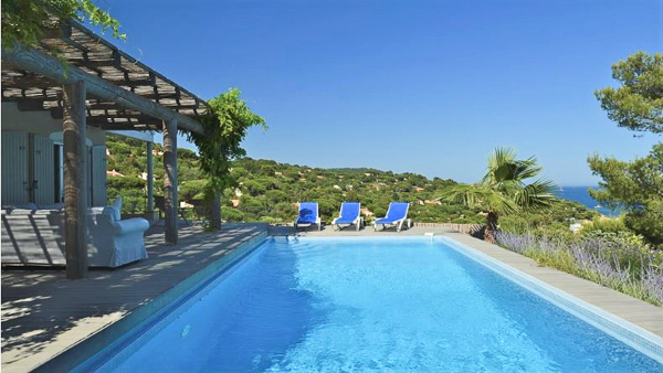 The view from Villa YNF LNA (Lana) at St. Tropez & The Var, France, Family-Friendly, Pool, 4 Bedroom, 4 Bathroom, WiFi, WIMCO Villas