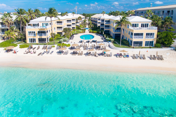 Aerial photo of Villa CM R521 (Regal Beach 2 BR) at Seven Mile Beach, Grand Cayman, Family-Friendly, Pool, 2 Bedroom, 2 Bathroom, WiFi, WIMCO Villas