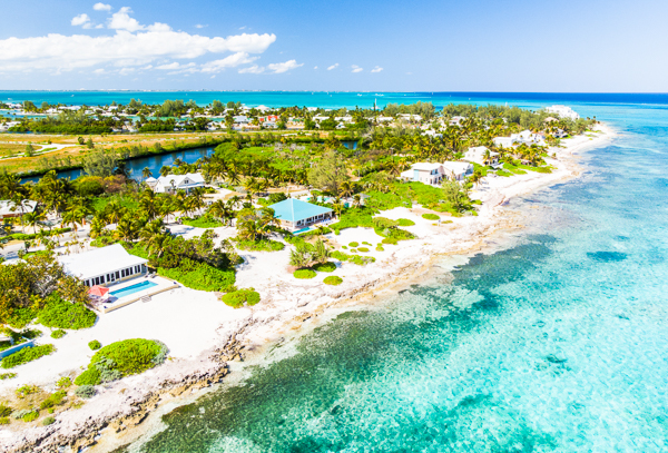 Aerial photo of Villa GCM THH (Thatch Hill) at Cayman Kai, Grand Cayman, Family-Friendly, Pool, 2 Bedroom, 2 Bathroom, WiFi, WIMCO Villas