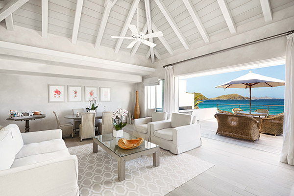 WIMCO Villas, Cheval Blanc St. Barth Isle de France, St. Barts, Living Room, Book now with WIMCO Villas