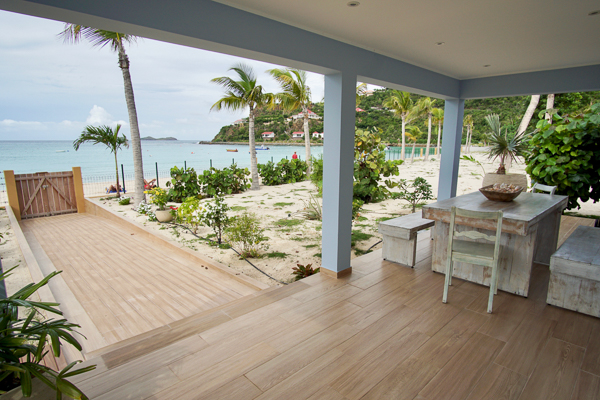 Terrace at Villa HEN CHG (Robinson Crusoe) at St. Jean Beach, St. Barthelemy, No Pool, 1 Bedroom, 1 Bathroom, WiFi, WIMCO Villas
