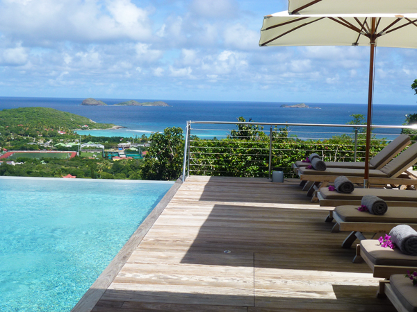 Deck at Villa WV ALH (Alhena) at Lurin, St. Barthelemy, Family-Friendly, Pool, 3 Bedroom, 3 Bathroom, WiFi, WIMCO Villas