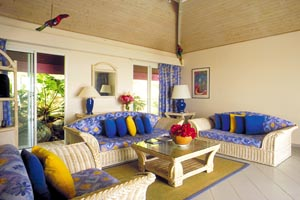 WIMCO Villas, Green Cay Villas, St. Martin, Living Room, Book now with WIMCO Villas