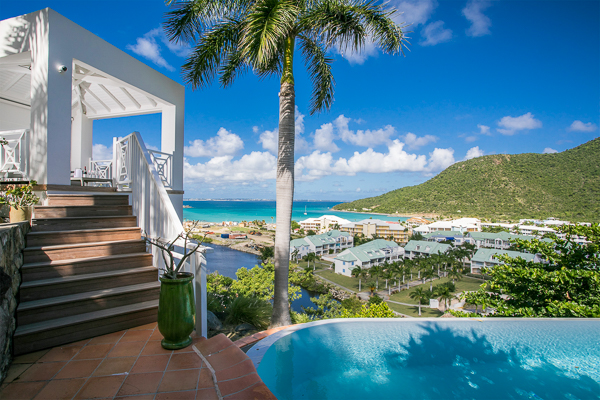The view from Villa PIE CBR (Casa Branca) at Anse Marcel, St. Martin, Family-Friendly, Pool, 3 Bedroom, 3 Bathroom, WiFi, WIMCO Villas