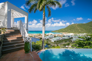 The view from Villa PIE CBR (Casa Branca) at Anse Marcel, St. Martin, Family-Friendly, Pool, 3 Bedroom, 3 Bathroom, WiFi, WIMCO Villas, Available for the Holidays
