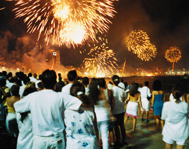New Year's Fireworks in St. Barts