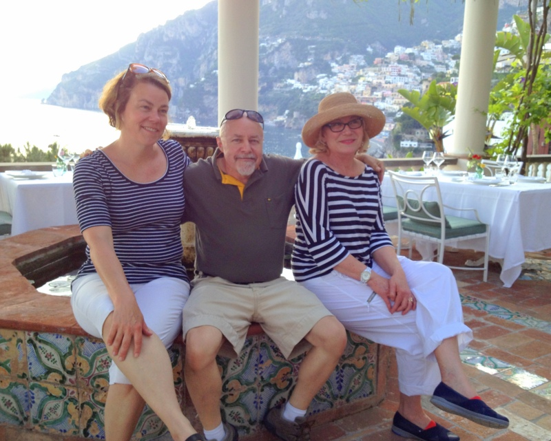 Bill, Jean, and Suzanne, Amalfi Coast
