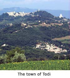 The town of Todi, umbria villa rentals, italy villa vacations
