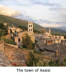 The town of Assisi, umbria villa rentals, italy villa vacations